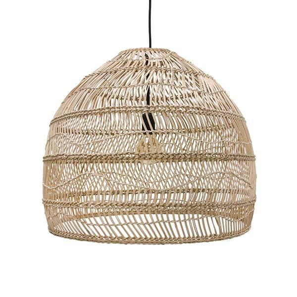 Bilde av Wicker hanging lamp ball, natural M
