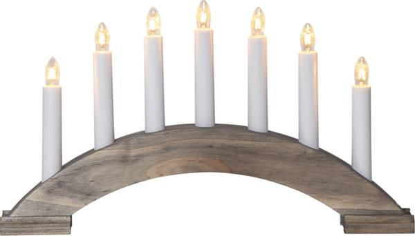 Bilde av Star bea candlestick, brun