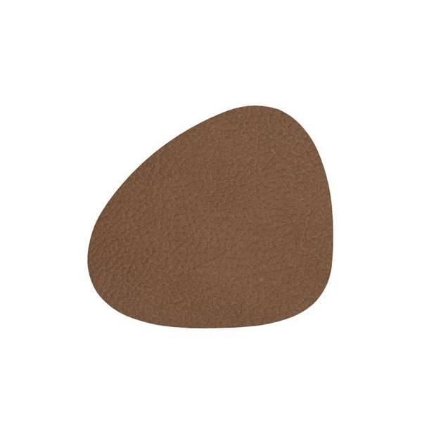 Bilde av Glass mat curve 11x13cm hippo brown