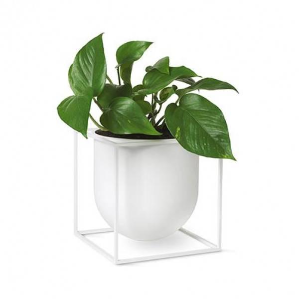 Bilde av By lassen Kubus flowerpot 23, hvit