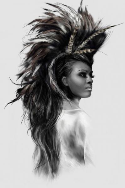 Bilde av African Queen 50x70